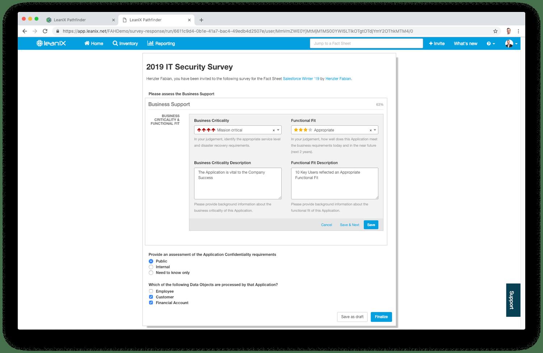 Wie gut erfüllt das Applikationsportfolio die Sicherheitsanforderungen?