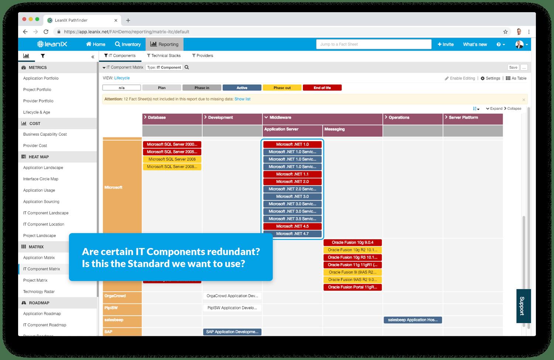 IT portfolio management matrix