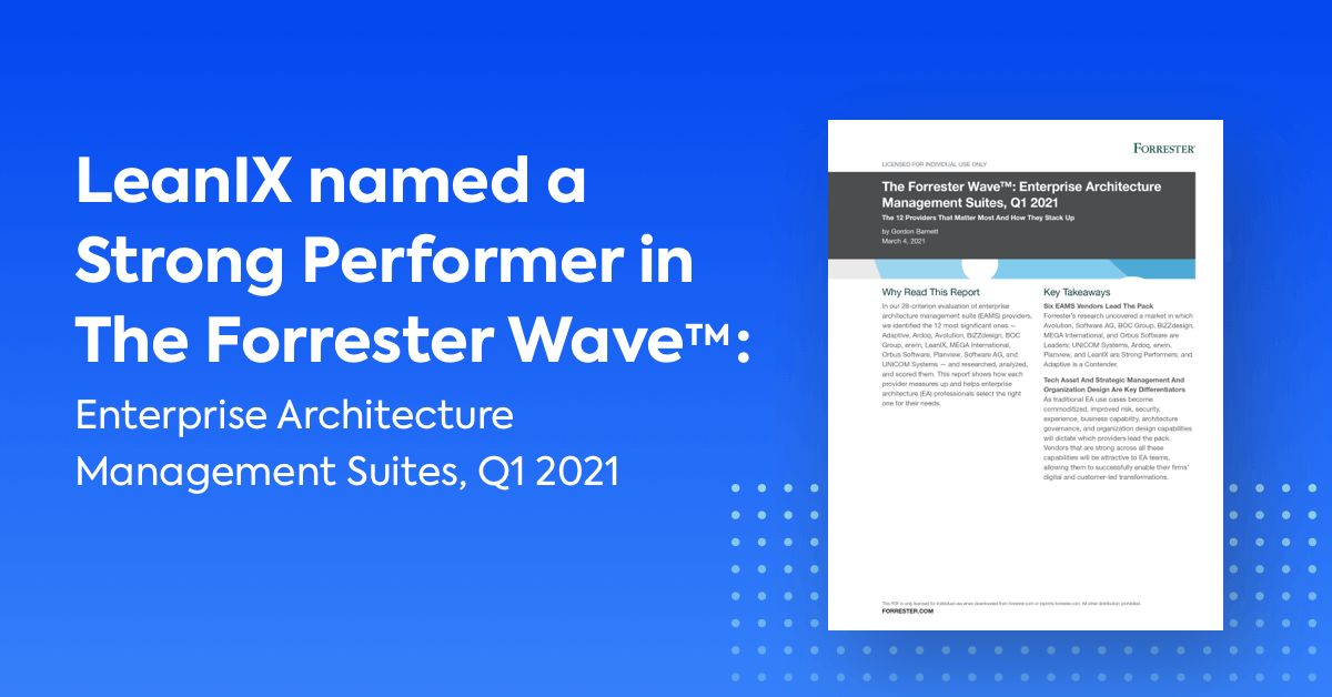 LeanIX a Strong Performer in Q1 2021 Forrester Wave