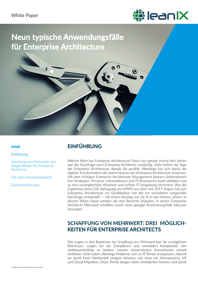 Nine Use Cases Solved with Enterprise Architecture