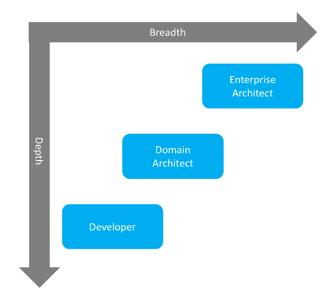 Enterprise Architect vs Domain Architect vs Developer?