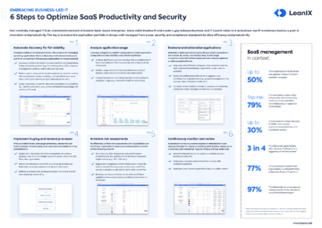 6 Steps for SaaS Productivity and Security