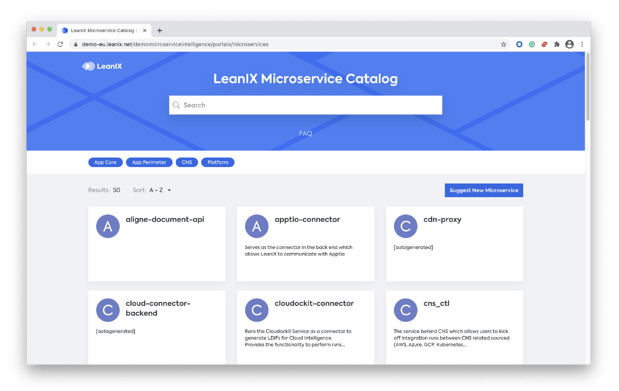 what is a microservice catalog