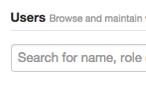 Suche nach Nutzern in der Administration