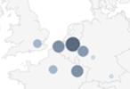 Darstellung von Standorten im Reporting