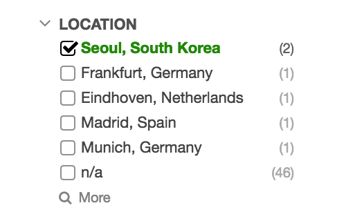 Filter by location for User Groups and IT Components