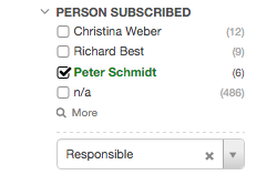 Filter by subscription roles