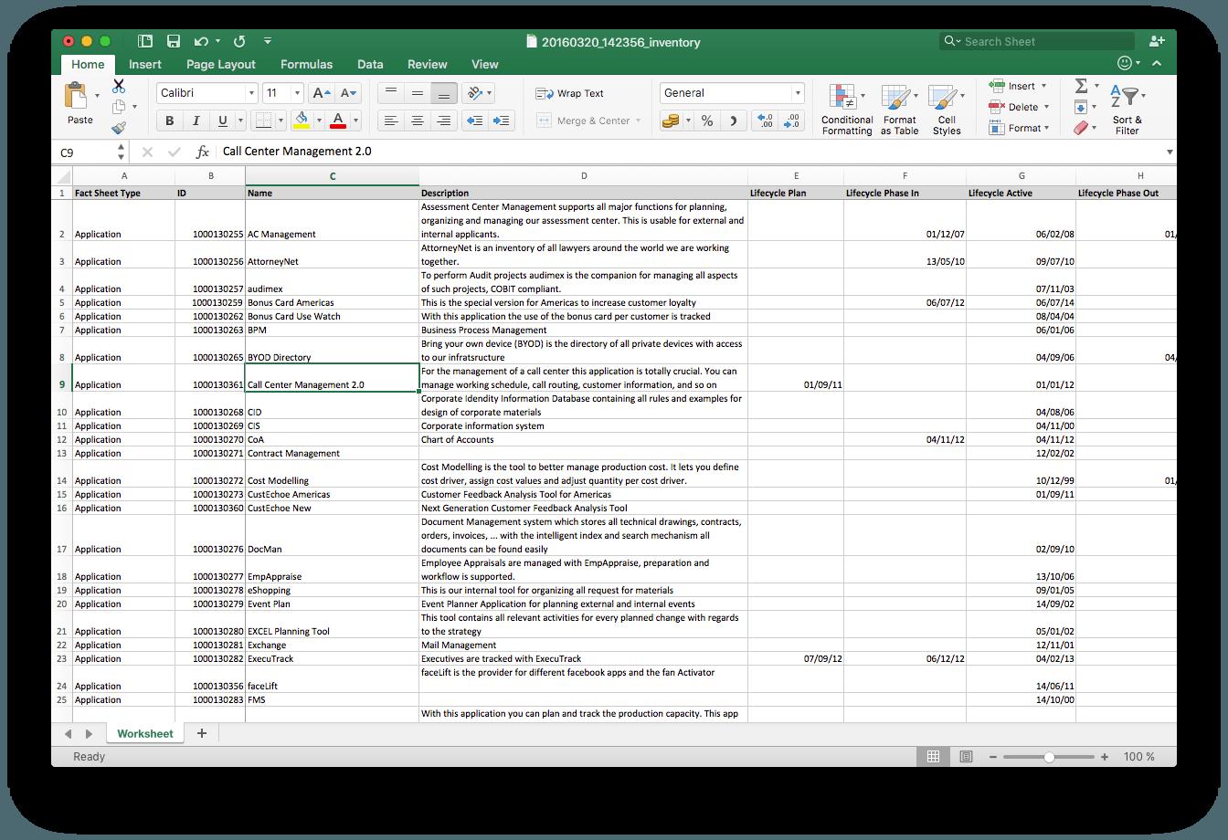 Excel Import & Export