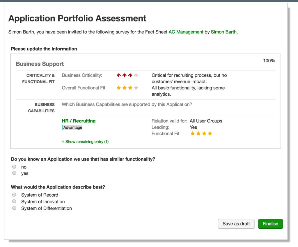 Wie bewerten Applikationsverantwortliche den Functional Fit?