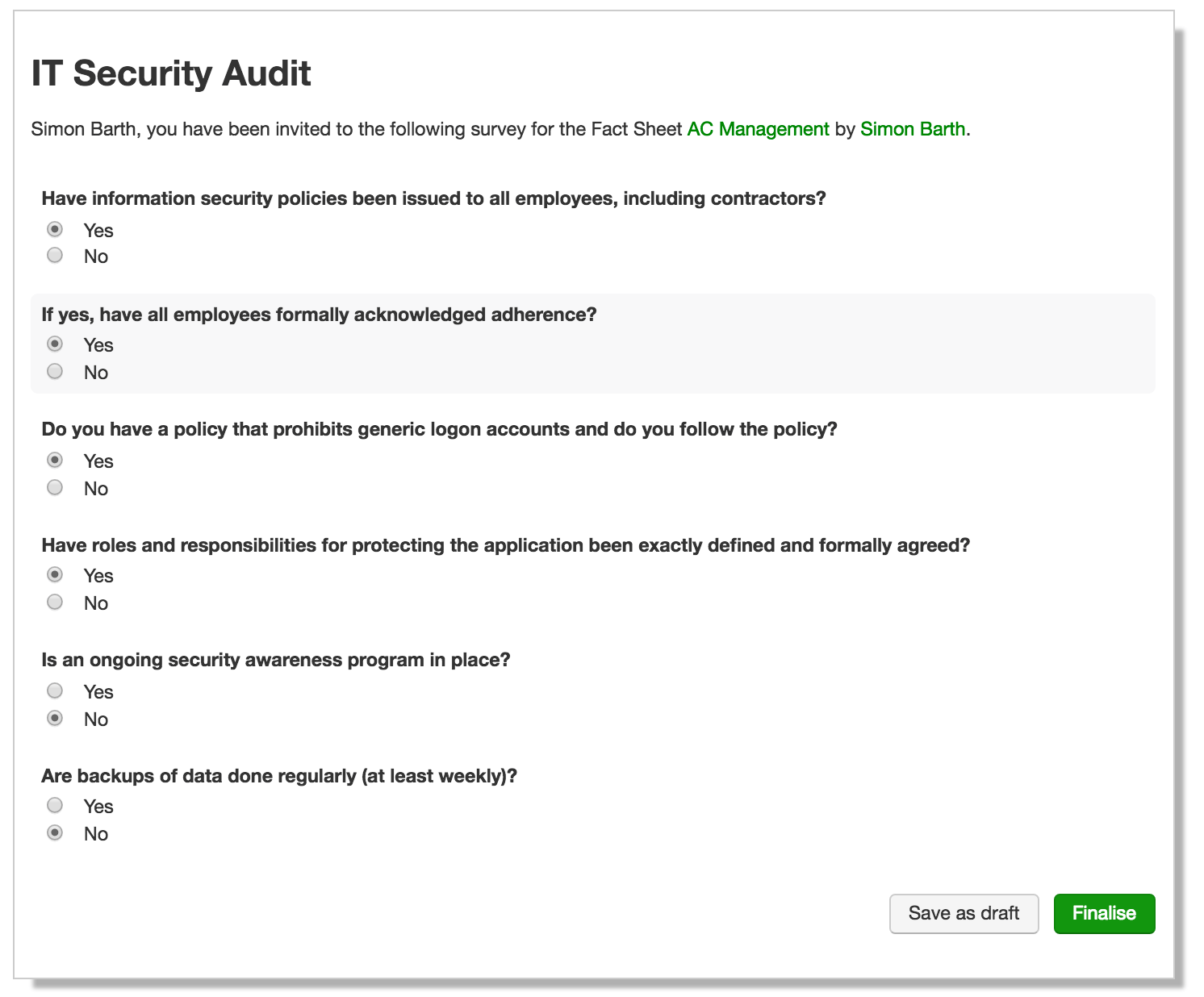 Do we adhere to mandatory security requirements?