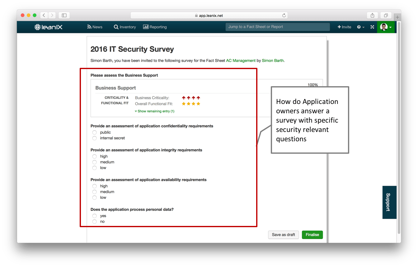 How well does my Application portfolio adhere to security standards?