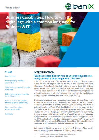 Business Capabilities: How to win the digital age with a common language for Business & IT
