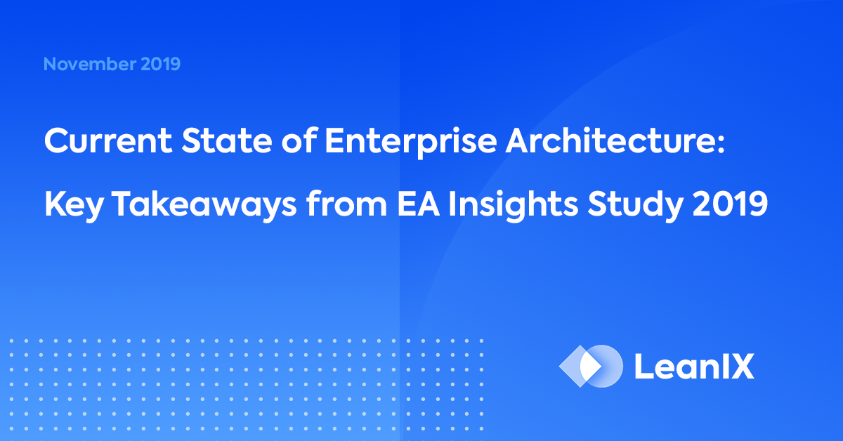 Webinar: The Current State of EA – LeanIX EA Insights Study 2019
