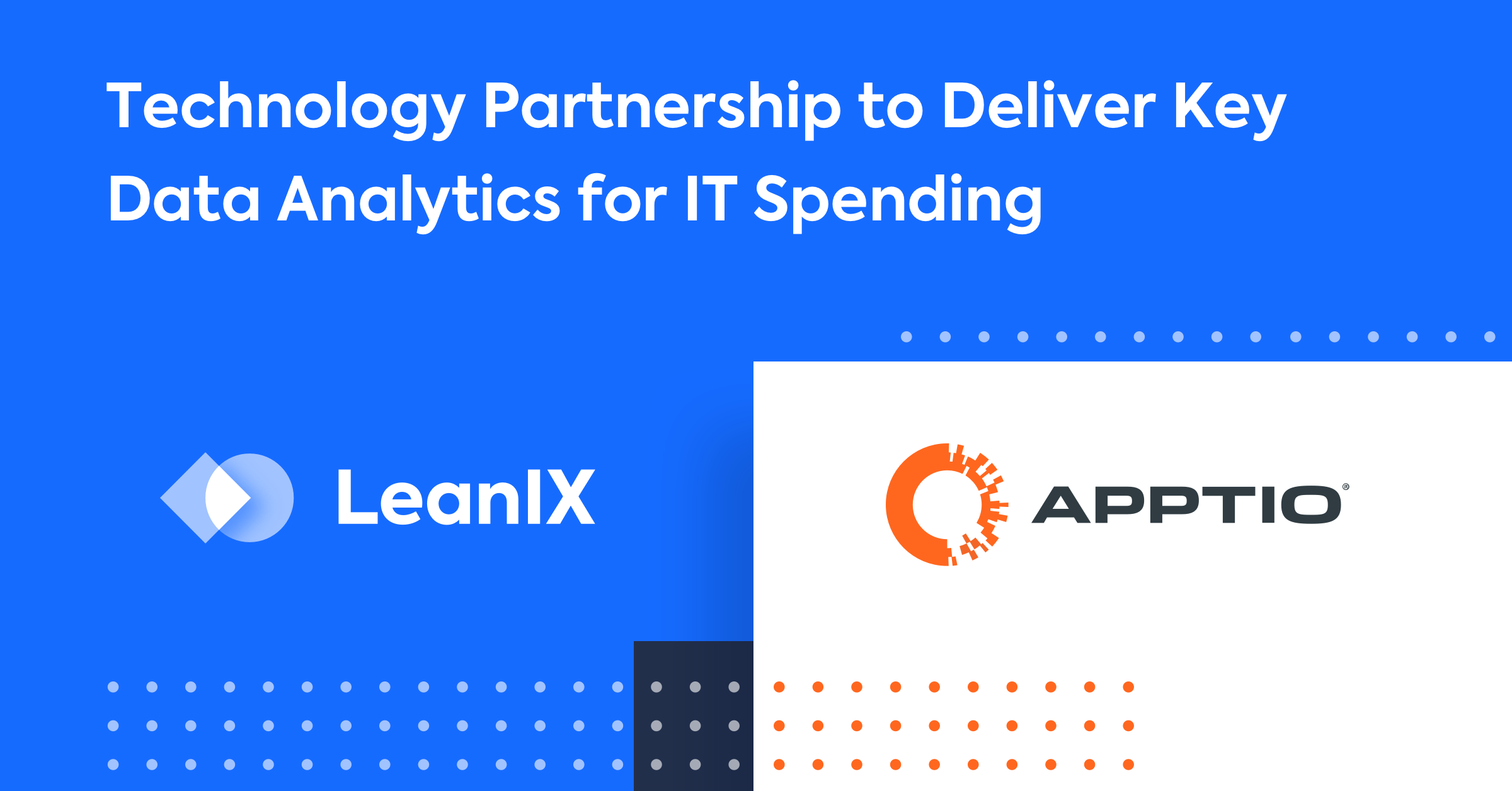 Apptio and LeanIX: What Enterprise Architects Can Expect