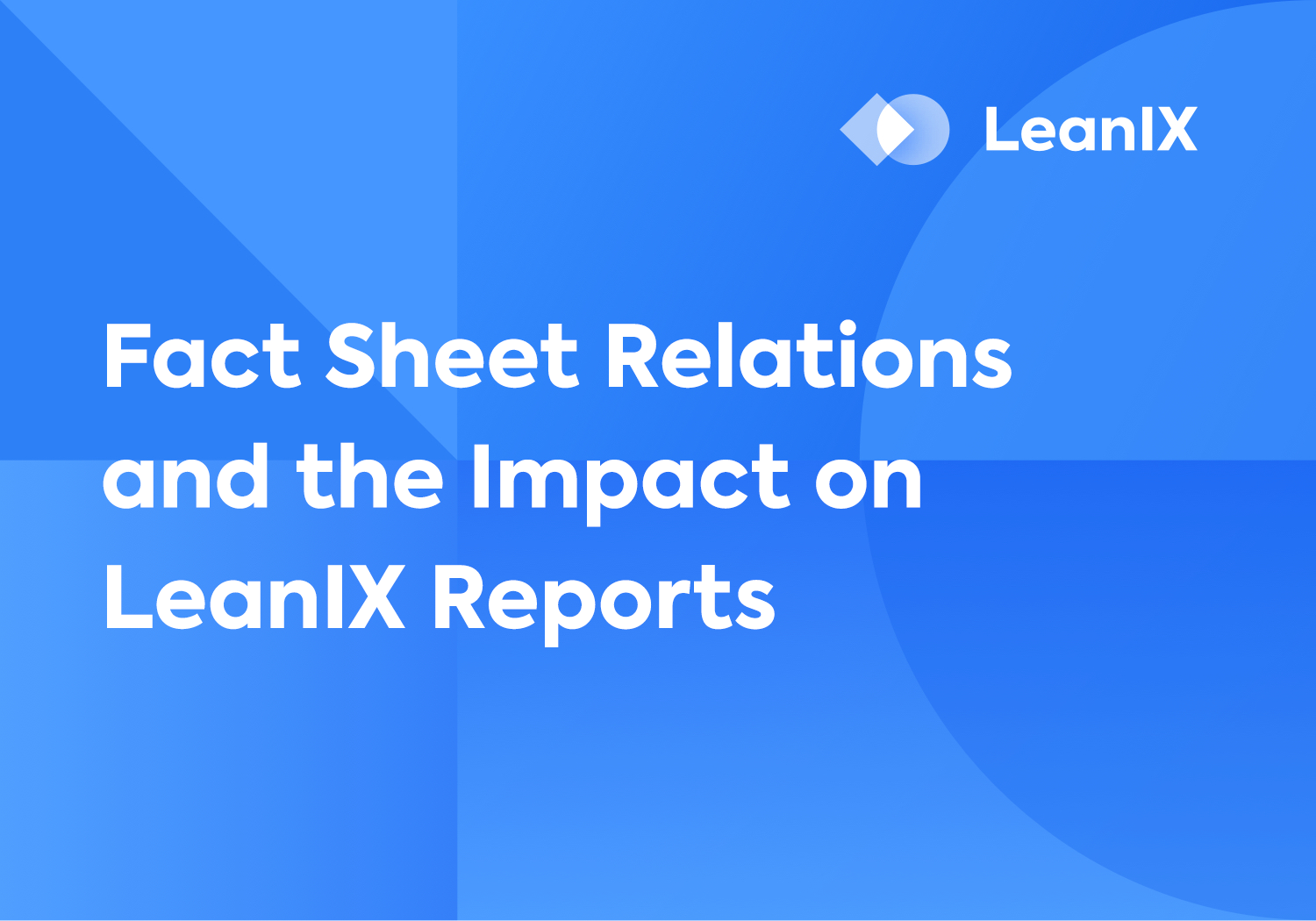 Fact Sheet Relations and the Impact on LeanIX Reports