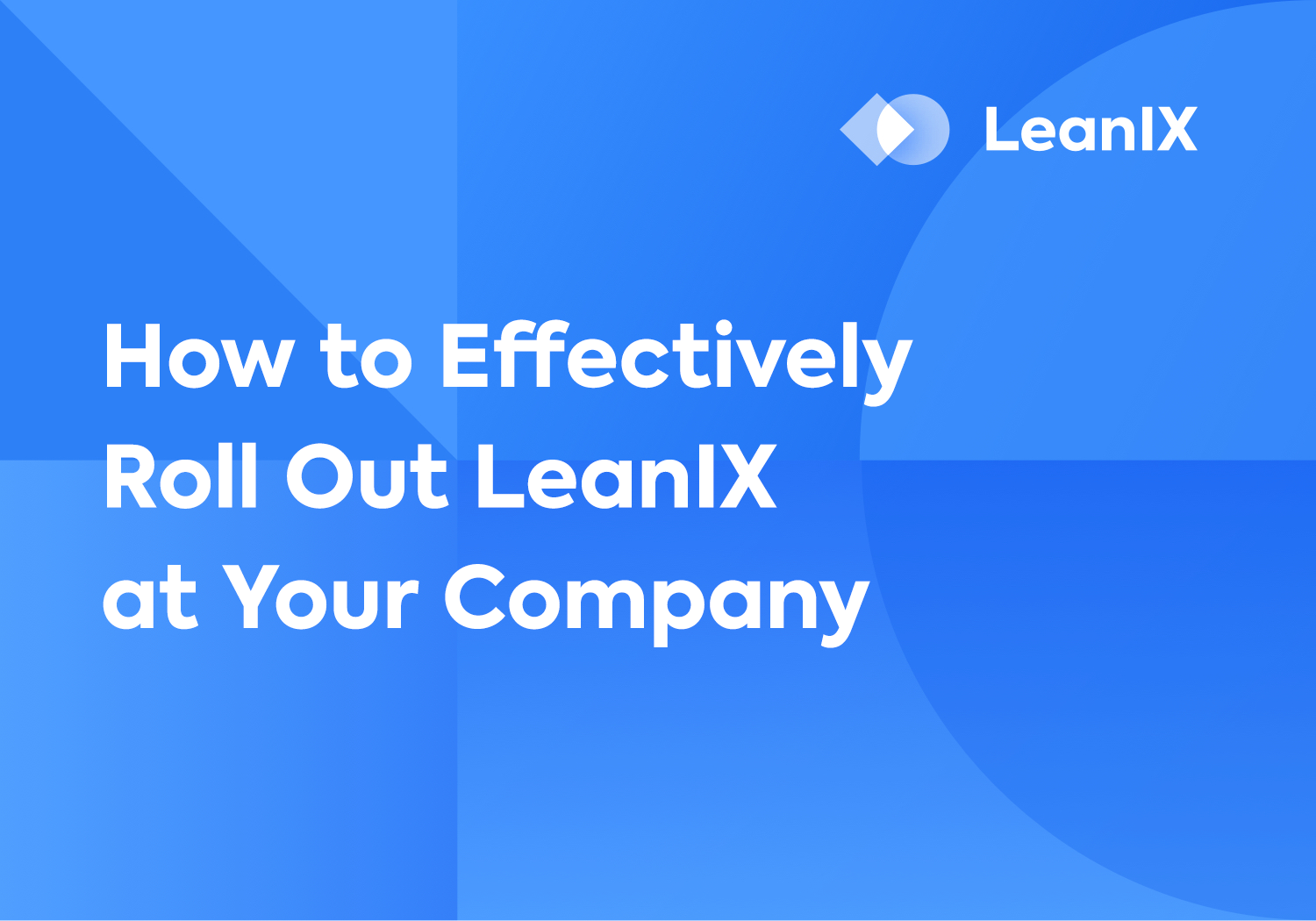 Presentation: How to Effectively Roll Out LeanIX at Your Company