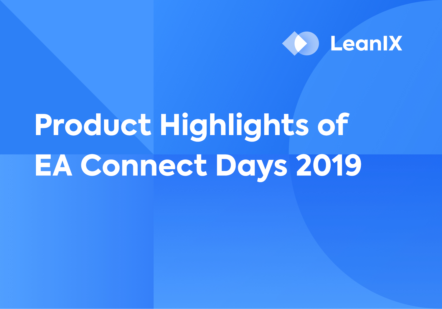 Presentation: Product Highlights of EA Connect Days 2019